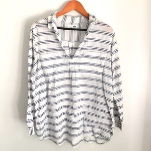 Old navy blue white striped top